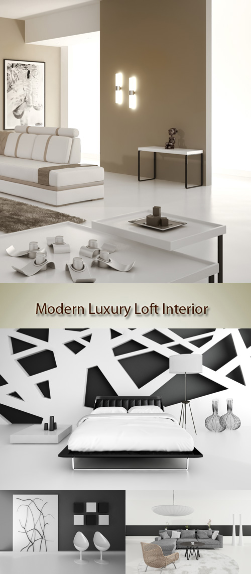 Stock Photo: Modern Luxury Loft Interior