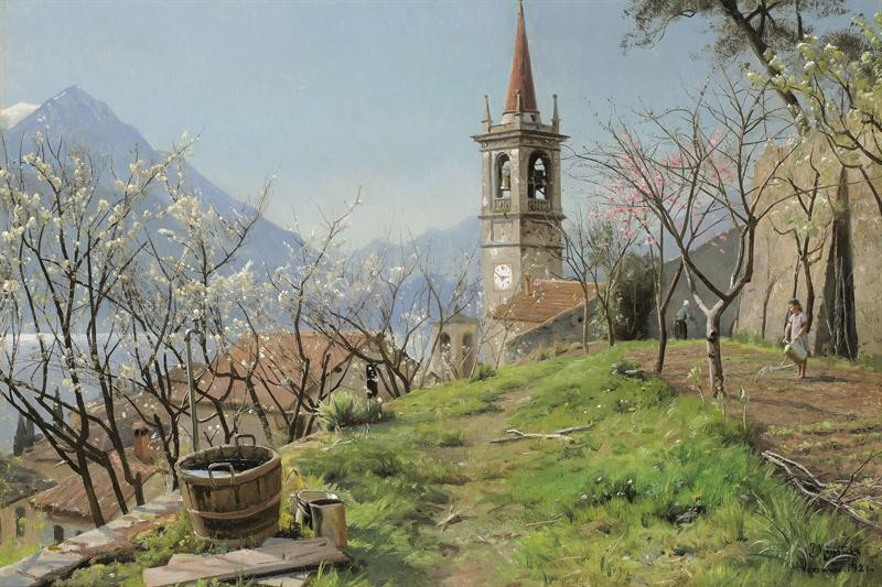 Peder Mork Monsted - Frühling am Comer See 1921