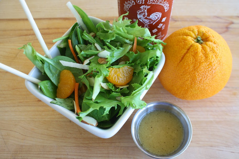 OrganicGirl Review and Recipe: Five Happiness Mandarin Orange Salad with Spicy Orange Dressing