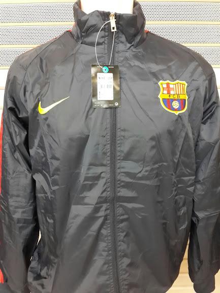 Jaket Parasut Barcelona Hitam 2014-2015