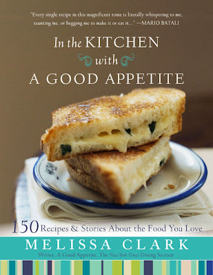 In the Kitchen with a Good Appetite- I think the cover photo is her Comte Grilled Cheese with Cornichon Spread. Photo Credit Con Poulos