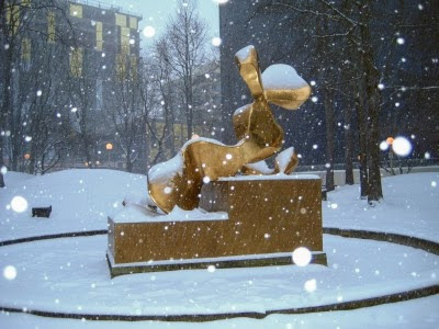The dreamer in the snow