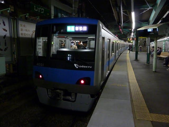 小田急電鉄 準急 新松田行き2 4000形(東京電力計画停電に伴う運行)