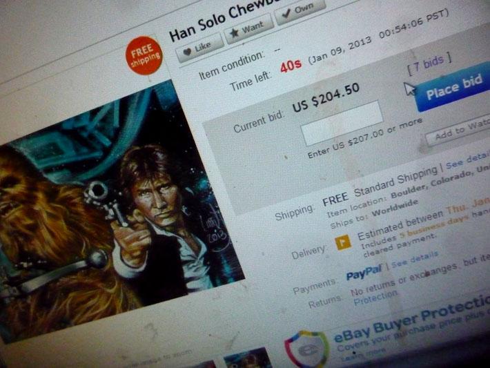 Star Wars Sketch Card EBay Auction