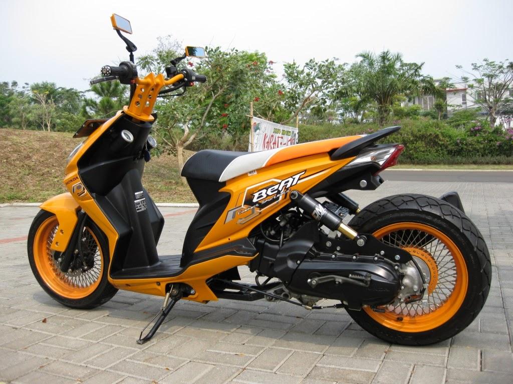Honda Beat Modifikasi Drag