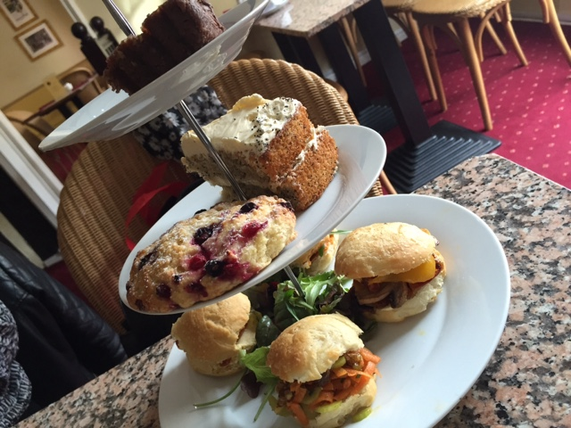 Vegan afternoon tea at Georgina's Cafe in York