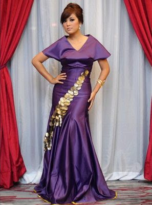 fesyen artis karpet merah anugerah skrin 2011 shila