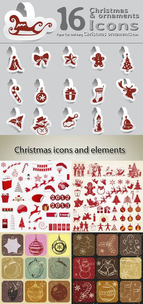 Stock: Christmas icons and elements 2013