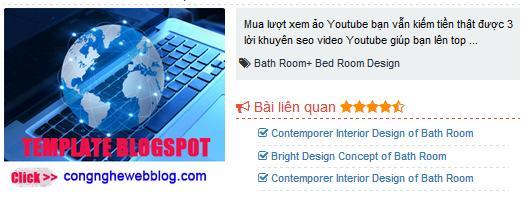 Bài viết liên quan cho blogspot có vị trí đặt quảng cáo