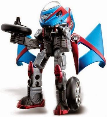 Đồ chơi Cykon biến hình QUIK có thể lắp ghép từ xe mô tô thành các chiến binh Robot CYKON