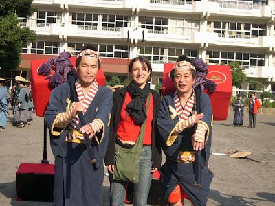 Porteadores con Sara, Hakone