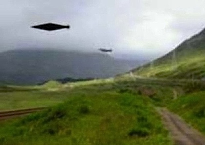 UK MOD Elongated Diamond UFO Missing Picture