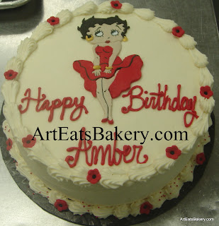 Betty Boop unique custom girl's or lady's birthday cake design idea