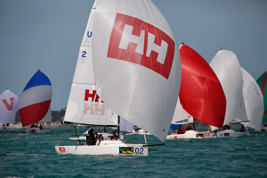 J/70 Helly Hansen winning regatta