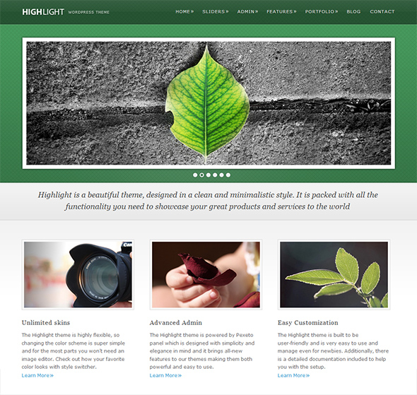 Highlight Green WordPress Theme