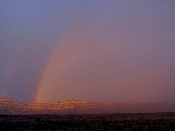Rainbow over the Book Cliffs