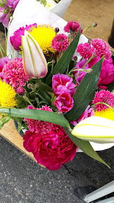 Some of the offerings at the Hollywood Farmers market on Saturdays - flowers