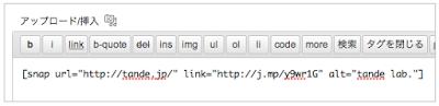 WordPress投稿画面での利用例