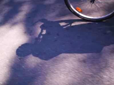 Martins Fahrrad-Schatten