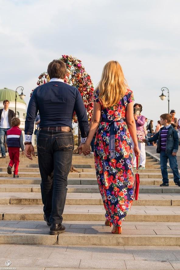 Фотосессия - мост влюбленных - Лужков мост, Москва