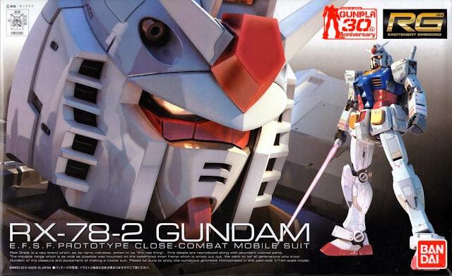 Sản phẩm RX-78-2 Gundam RG 1/144 sản xuất tại Nhật bản