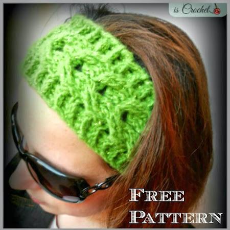 Crochet Geek : Stretchy Crochet Headband - Puff Stitch