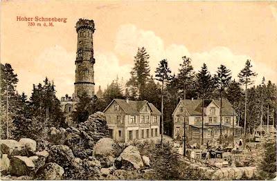 Děčínský Sněžník (Schneeberg) Děčínský Sněžník - rozhledna - o. Děčín - 1921.jpg