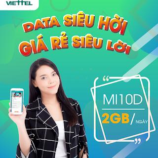 Nhận Ngay 2GB Miễn phí chỉ 10.000đ Gói MI10D Viettel