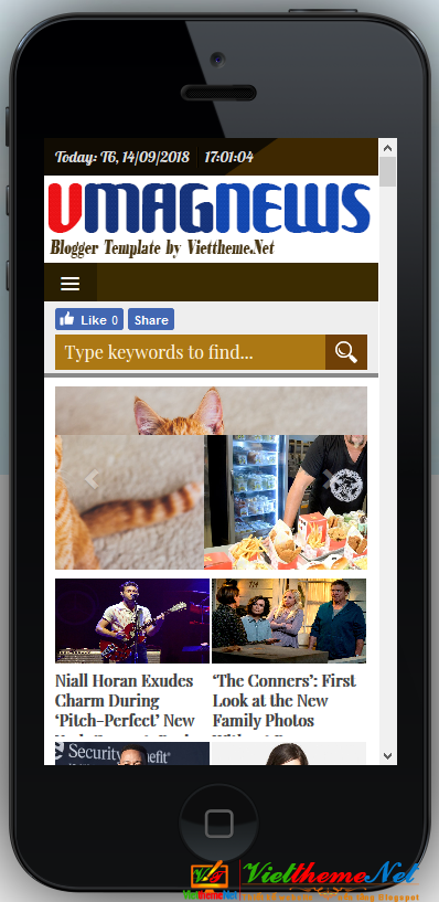 VMagNews when viewed on iphone 5