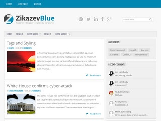 Zikazev Blue blogger template