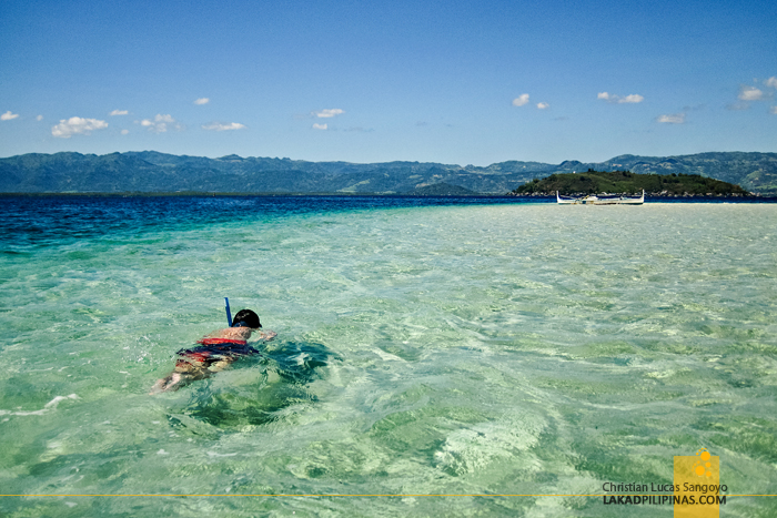 Snorkeling at the Manjuyod Sandbar
