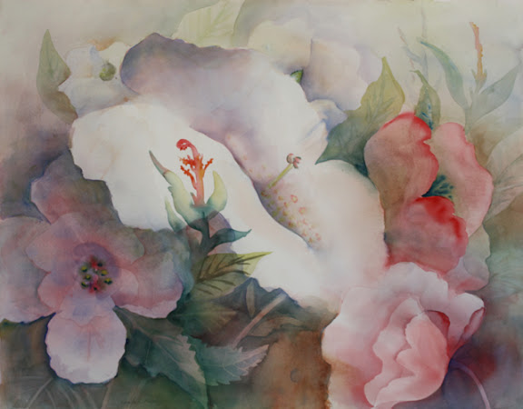 """""""Floral Collage"""" by artist Natalie Fleming."""
