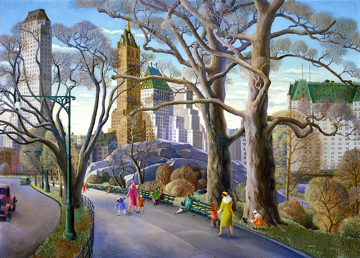 Carl Gustaf Nelson painted Central Park