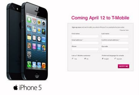 Unlocked iPhone 5 Receives LTE and Visual Voicemail on T-Mobile Via Carrier ...
