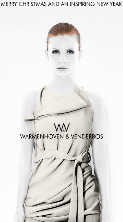 Warmenhoven & Venderbos designer fashion | Diary 201211 | Merry Christmas and an inspiring New Year