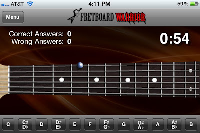 Fretboard Warrior small buttons