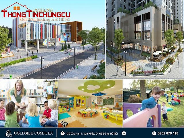Hệ thống tiện ích cao cấp tại dự án chung cư GoldSilk Residence