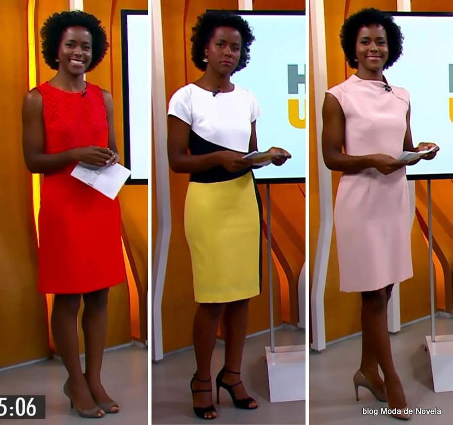 moda do programa Hora 1, vestidos da Maria Julia Coutinho dias 29 a 31 de dezembro