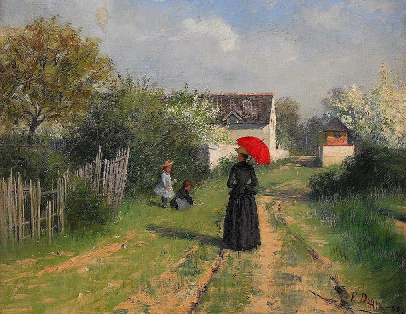 Elin Danielson-Gambogi - Landscape in spring (also known as Going to church)