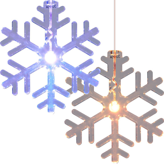 Christmas Window Decoration - Trademark Home 72-LT510 LED Color Changing Snowflake Window Decorations, Set of 2