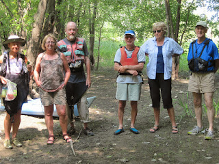 7 people participated in a three-hour paddle up the Little Otter Creek in Ferrisburg.