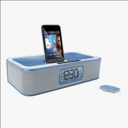 Memorex MI4004-BLU CLOCK RADIO WITH iPOD DOCK (BLUE)