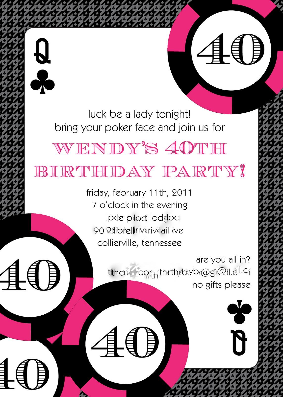 GreyGrey Designs: {My Parties} Hot Pink Glamorous Casino 40th Birthday