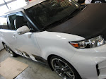 Scion - Carbon Fibre hood and Racey stripes package