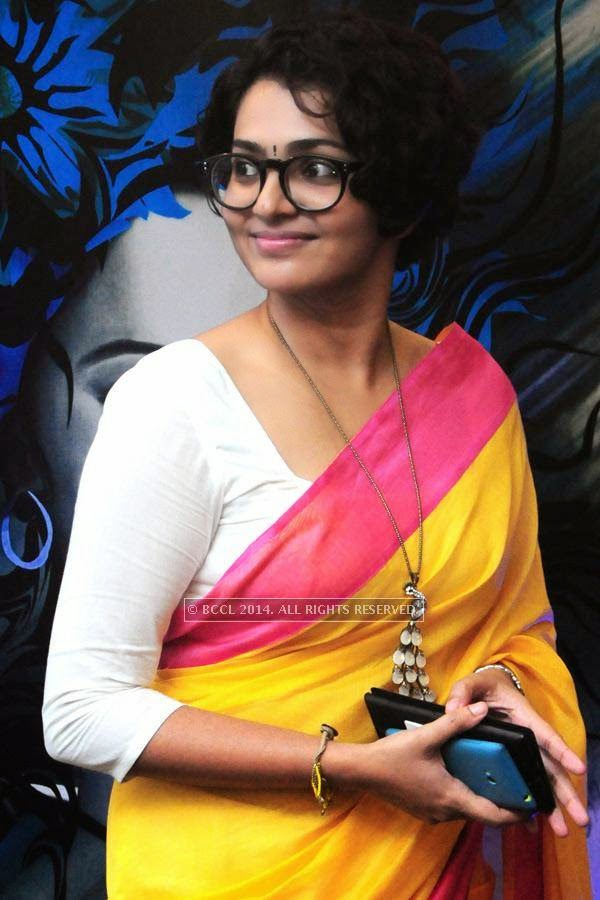Parvathi Menon during the premiere of Ennu Ninte Moideen, in Trivandrum.