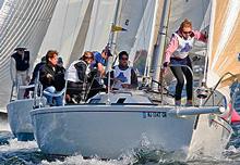 J/105s sailing Storm Trysail Big Boat  series