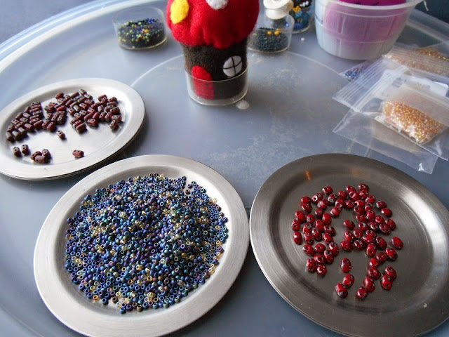 Lapis Lazuli Beadwork in Progress