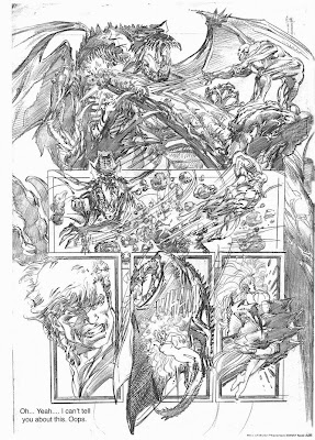 Rise of Magic sketch by Neal Adams