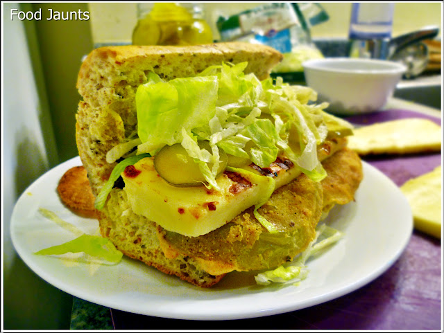 """Fried"" Green Tomato Po-Boy"