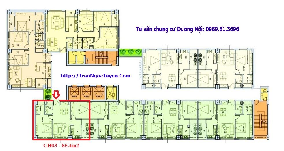 Bán chung cư Dương Nội căn hộ 03